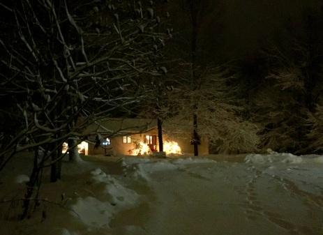 My snowy bungalow