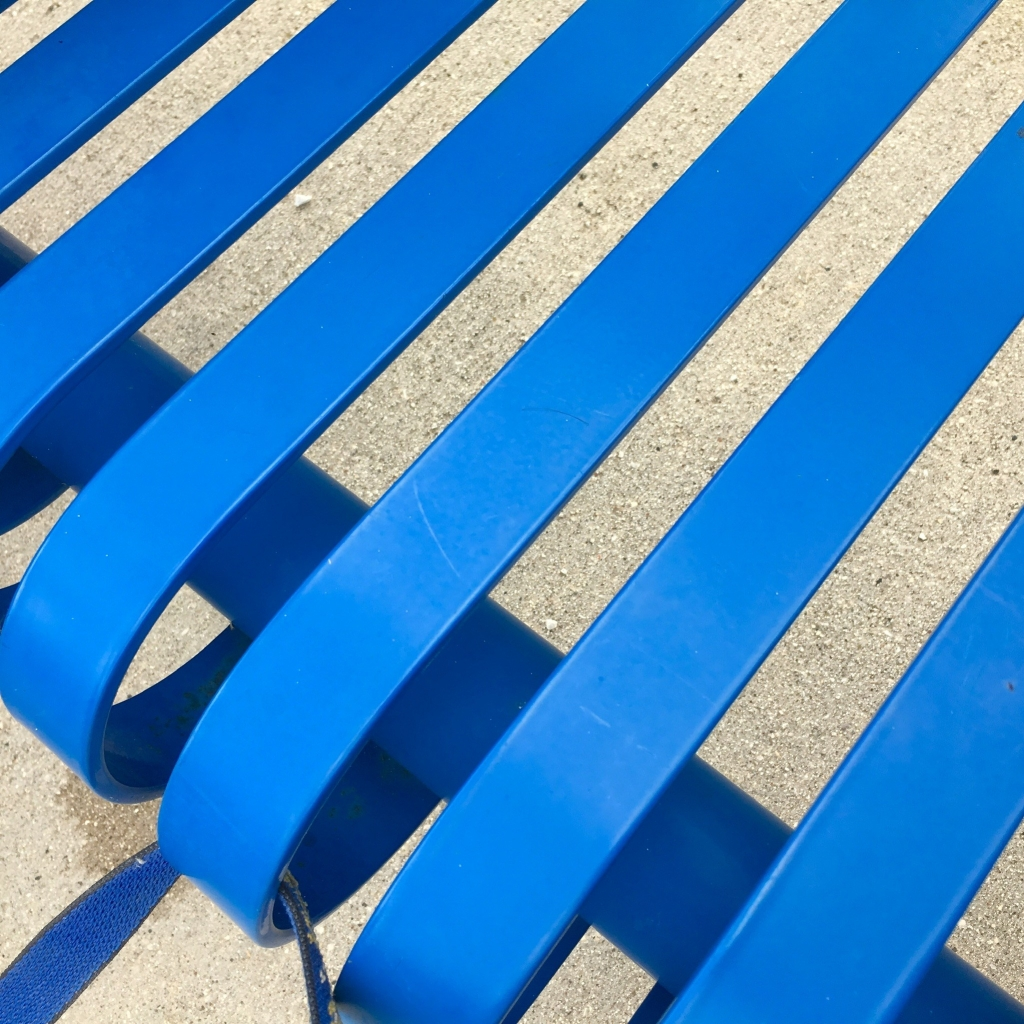 The Geometry of a Blue Bench