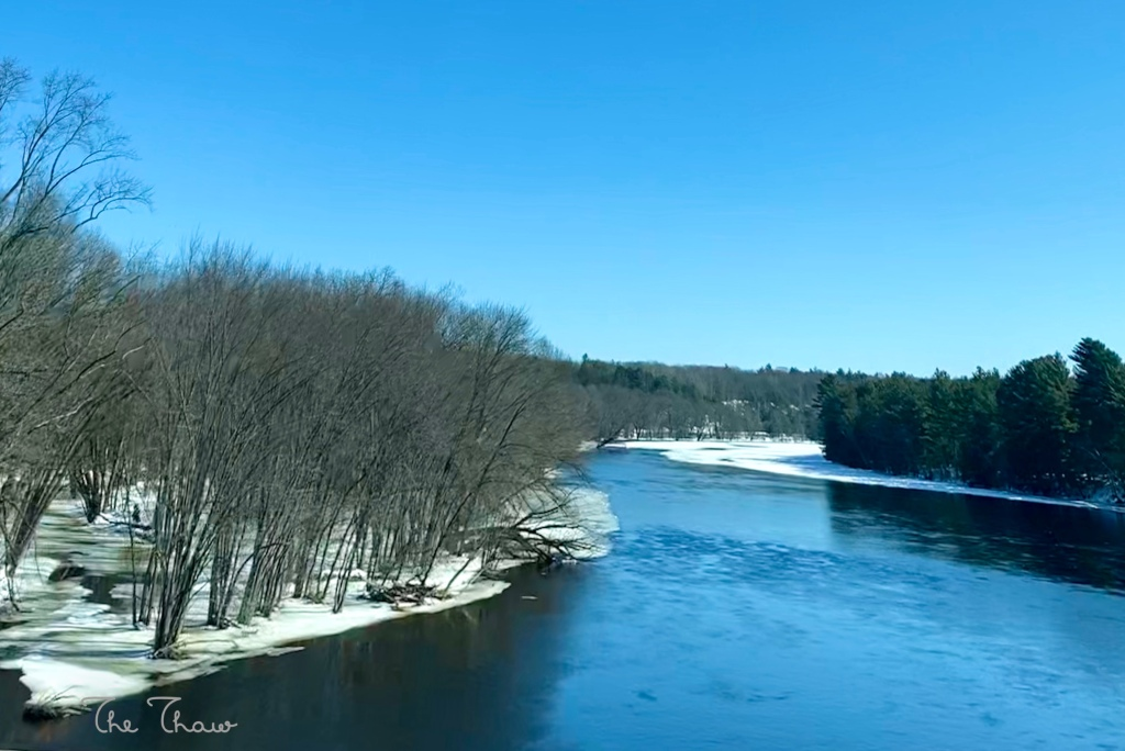 Wisconsin River in February.  The Thaw