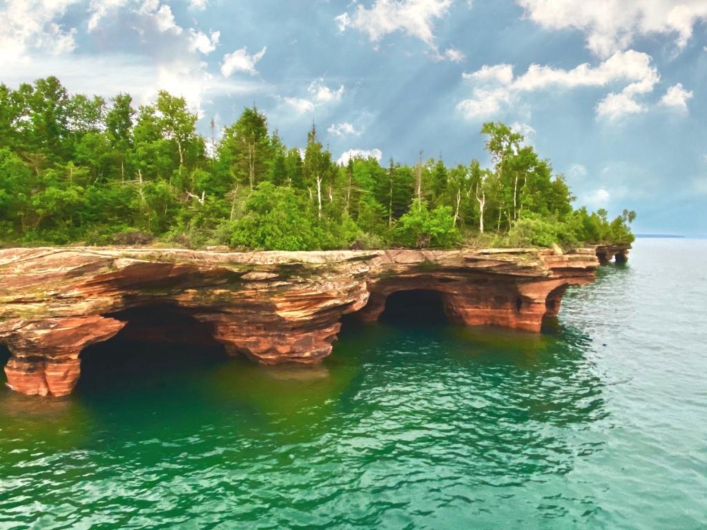 Devil's Island cliffs