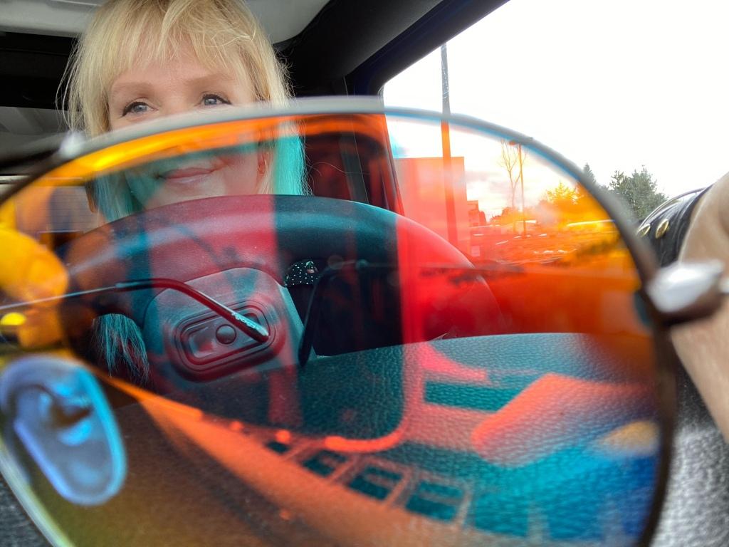 Jeep,sunglasses,...the road.